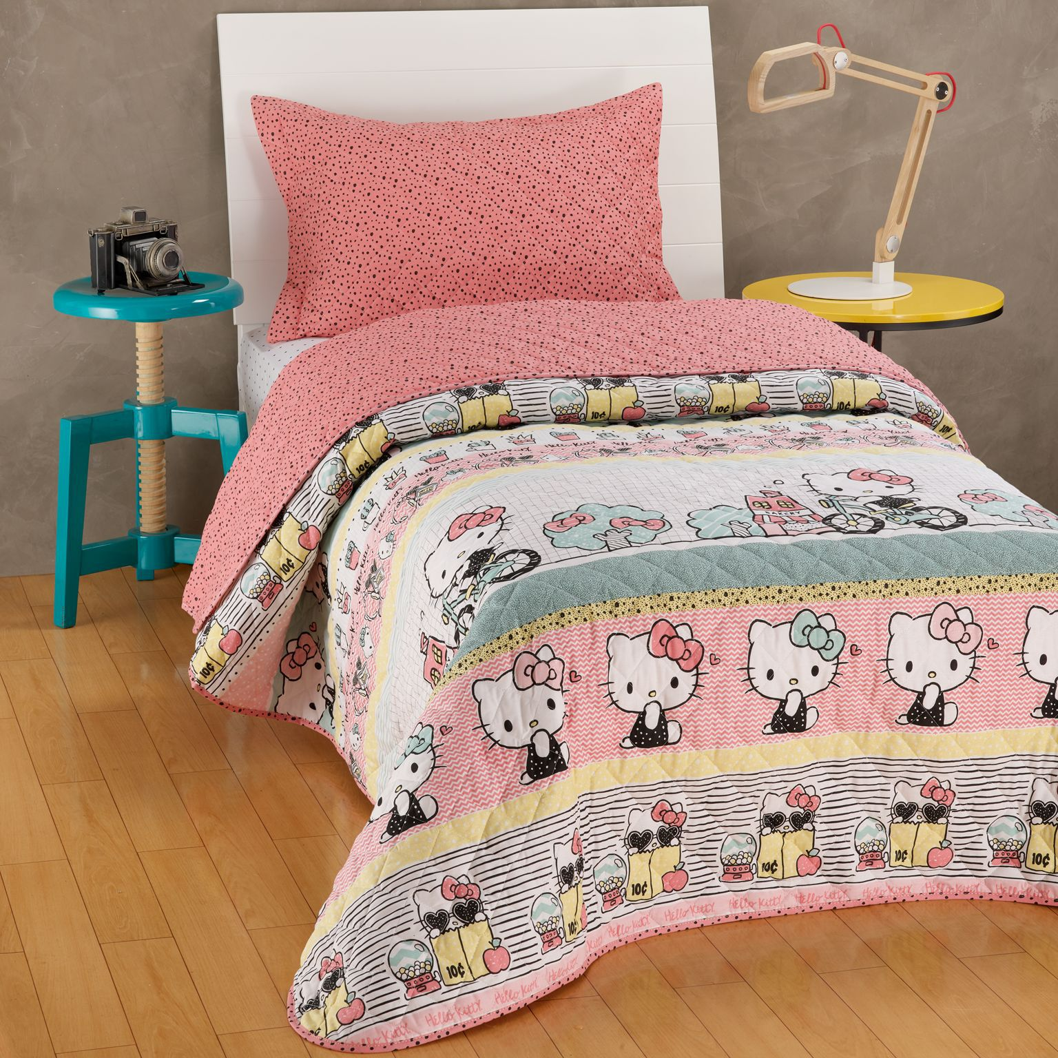 Kit Colcha Hello Kitty Dupla Face Matelado