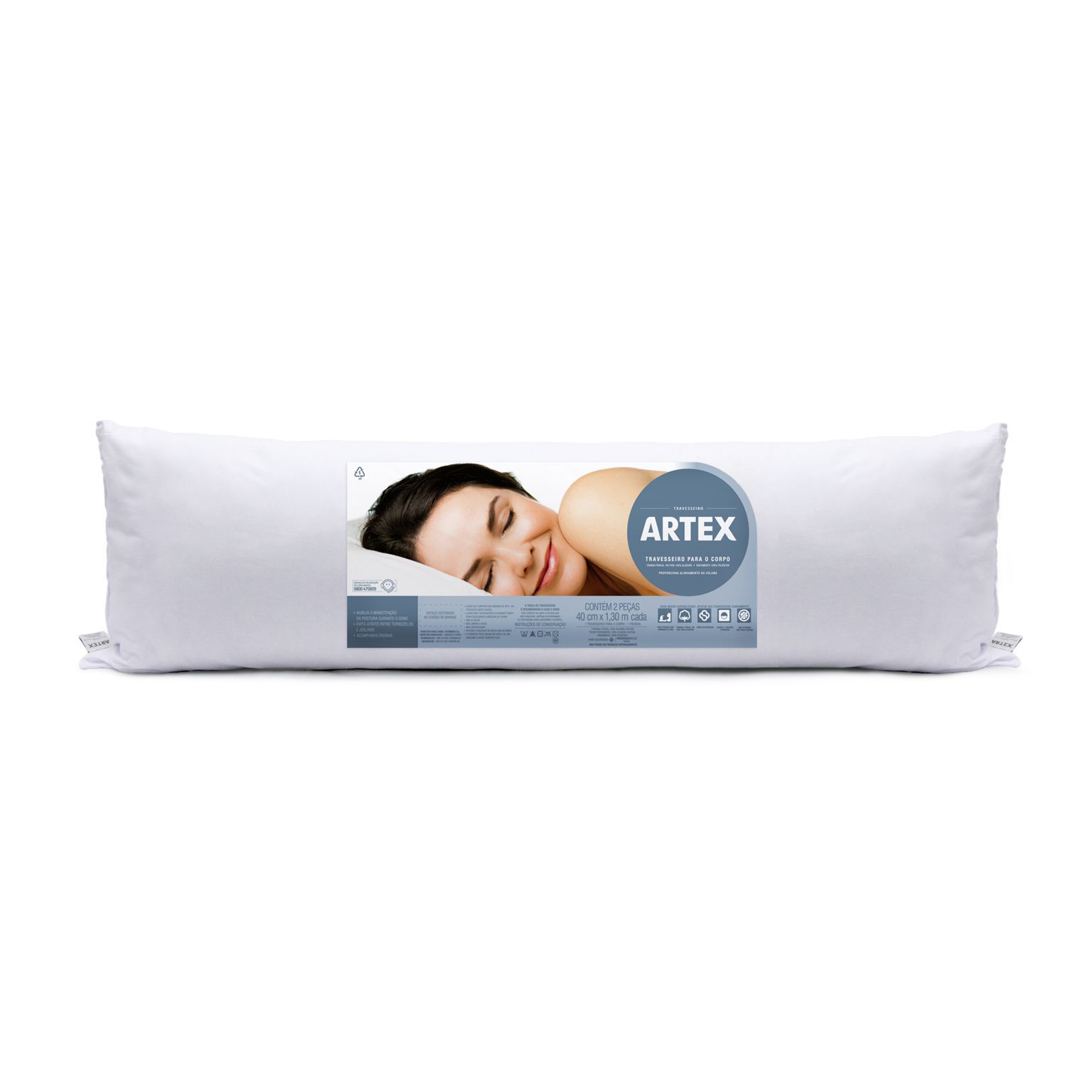 Travesseiro de Corpo Sleep Care