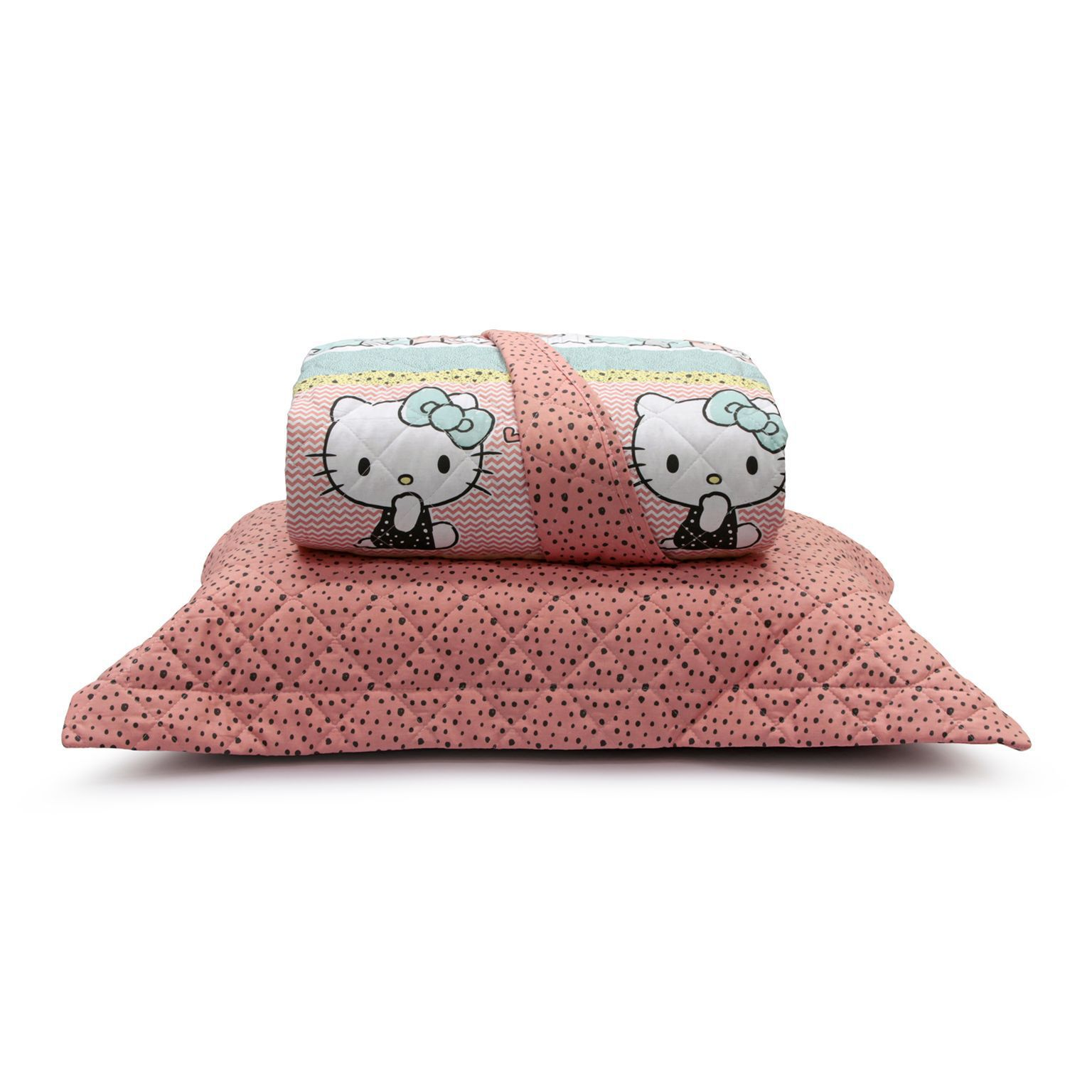 Kit Colcha Matelassê Dupla Face Hello Kitty