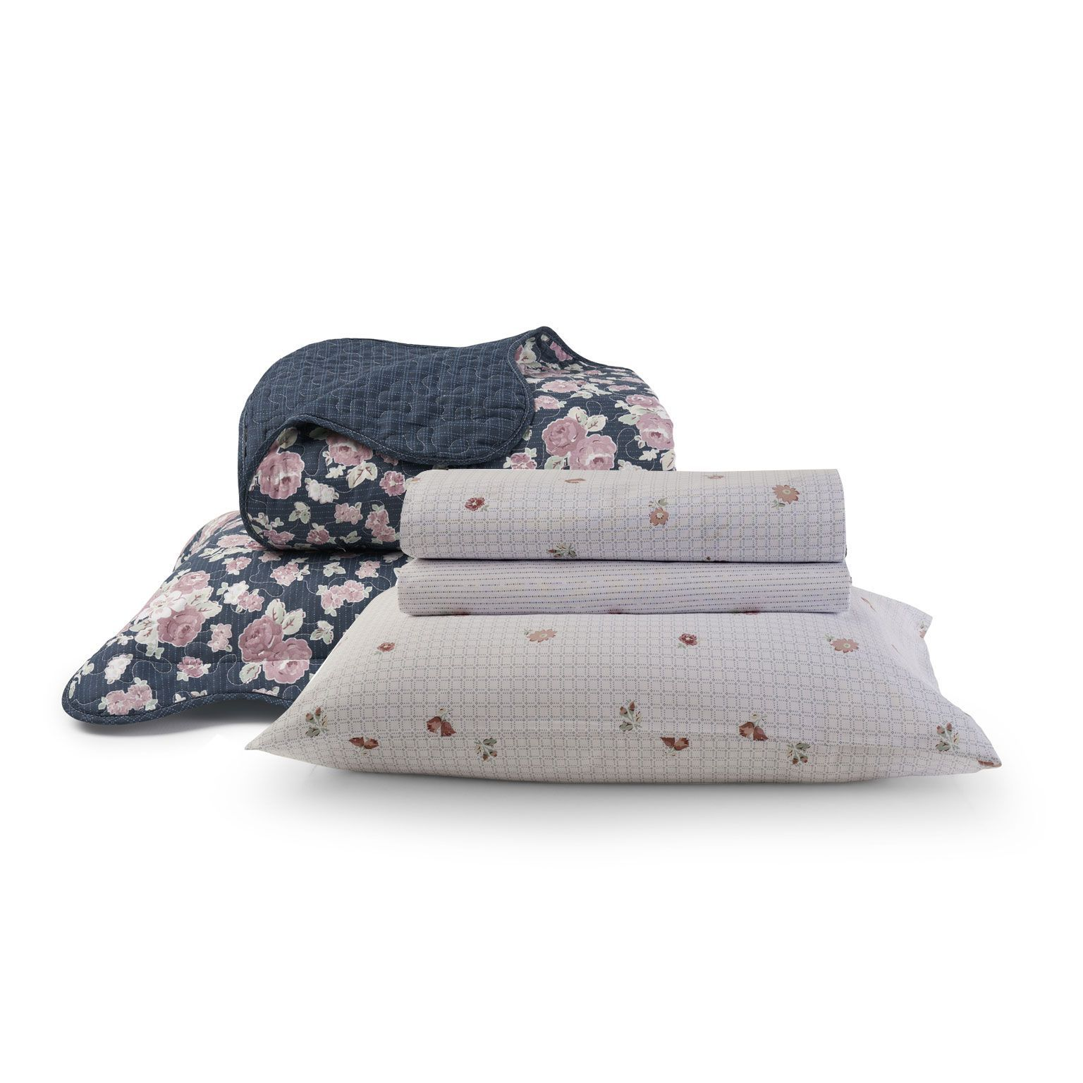 Kit Cama Fit Collection + Colcha Boutis Lídia