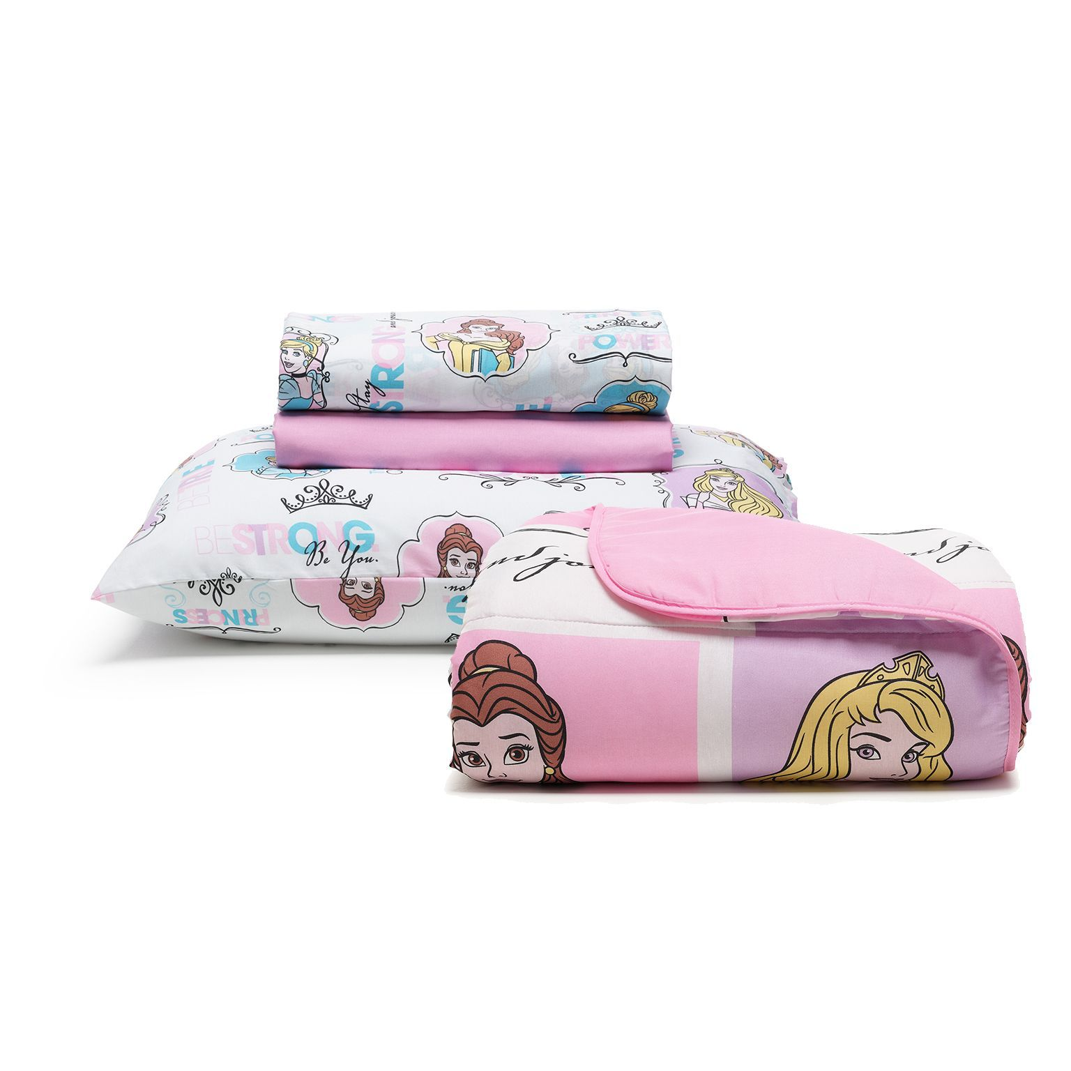 Kit Cama Infantil Disney Princess Power