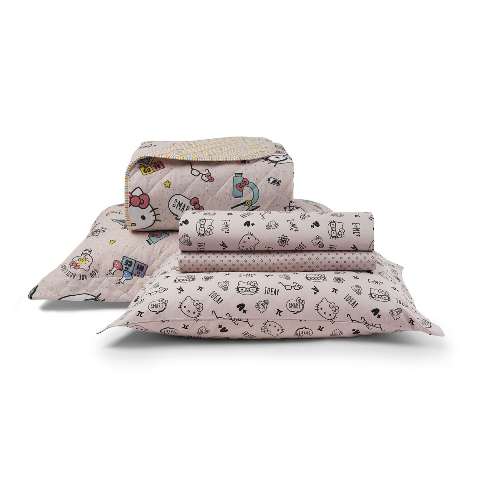 Kit Cama Matelassê Hello Kitty Completo