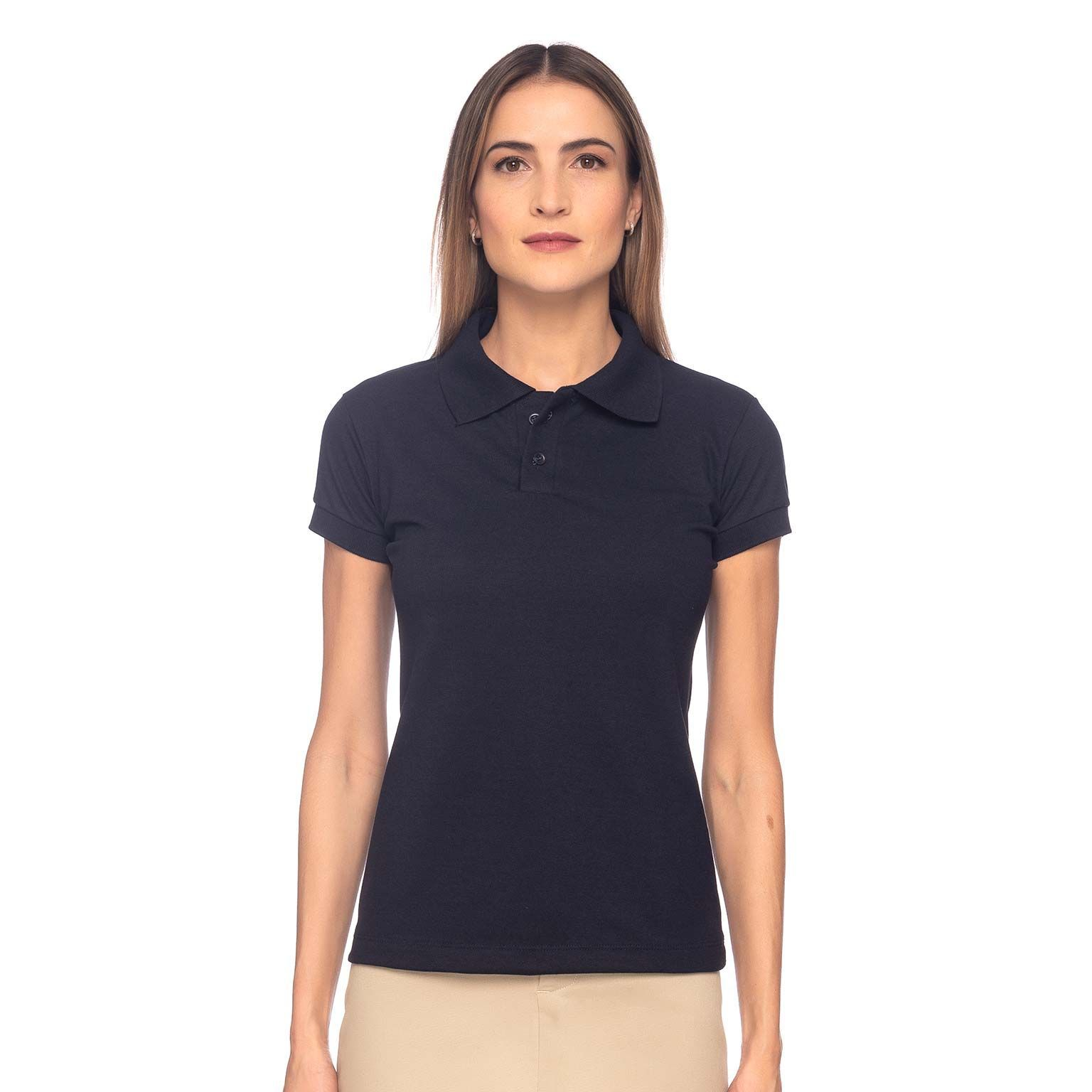 Kit Camisas de Uniforme Feminino Polo Master Collection 3 Peças