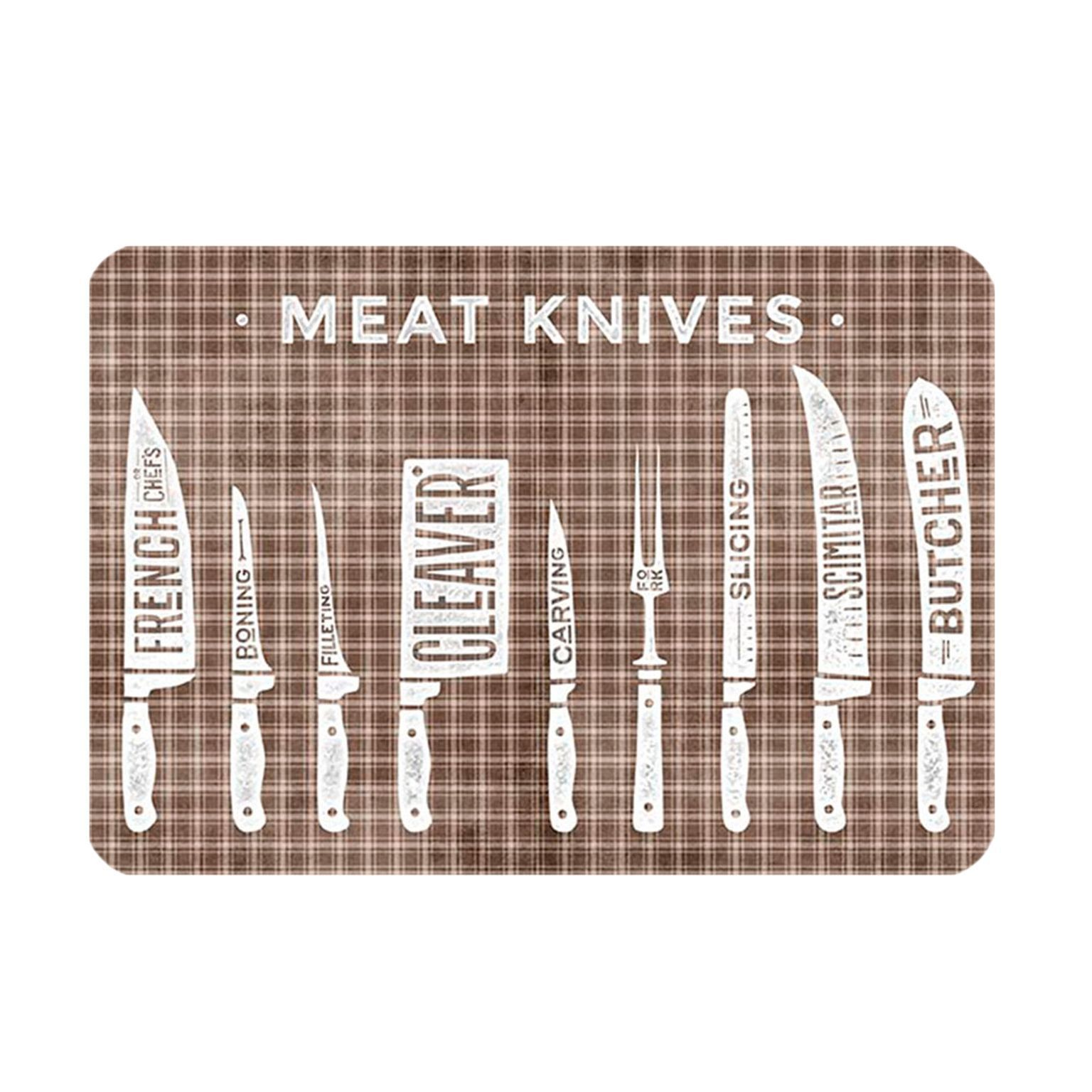 Tapetinho Antiderrapante Meat Knives