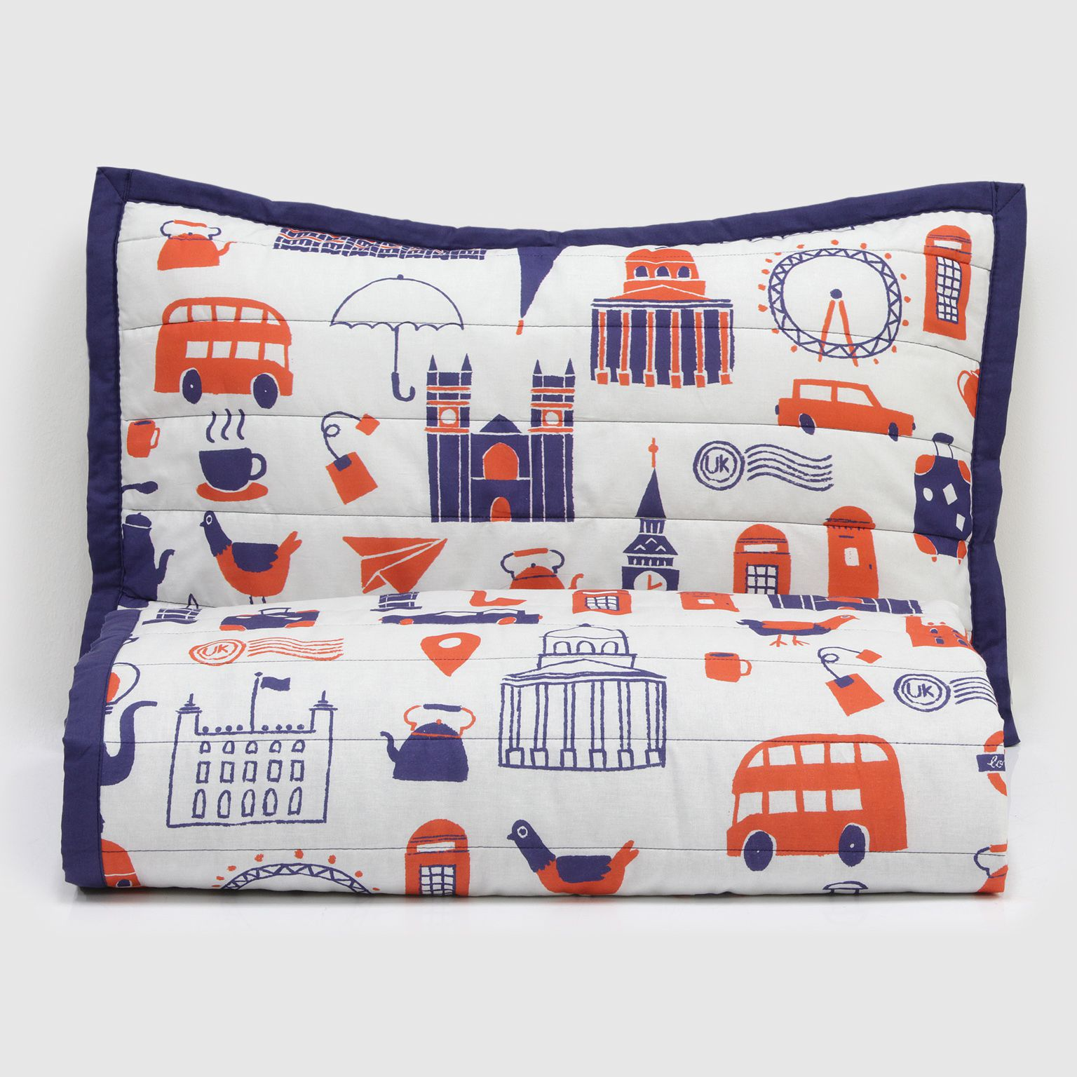 Kit Colcha Matelassê London Blue